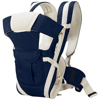 JOHN RICHARD Adjustable Hands-Free 4-in-1 Carry bag Comfortable Head Support Buckle Straps waist Belt (Navy Blue)