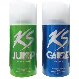 Any 2 KS Kamasutra Deodorants Spray For Men -150 ml Each  (Any variant Deo).