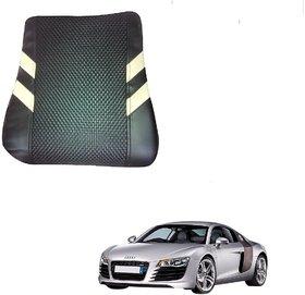 Auto Addict Car Pillow Cushion Black Back Rest Set of 1 Pcs For Audi R8