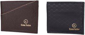 Kismat Fashion Stylish Wallet For Mens (Blackish Brown & Black)