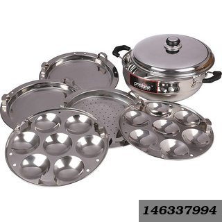 Sandwich Base Multi Kadai, 27 cm/4.750 Liters with 5 Plates Gift Box