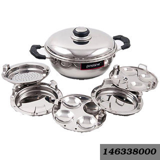 Induction Compatible Sandwich Base Mini Multi Purpose Kadai,with plates