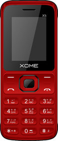 XOME X1i (Dual Sim, 1.8 Inch Display, 1000mAH Battery, Textured Design)