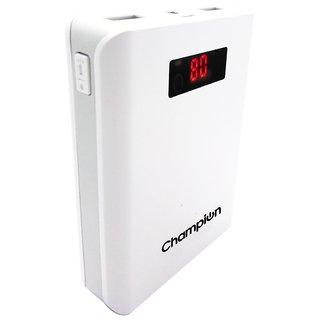 Champion Z-10 10400 mAh Digital Power Bank (White & Grey)