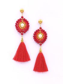 Tribal Fringe Rope Tassel Earrings for Women