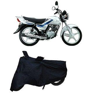 De-Autocare Premium Quality Black Matty Two Wheeler Dustproof Body Cover With Mirror Pockets FOR SUZUKI HEAT