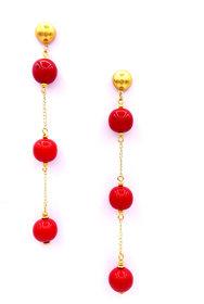Party wear drop beads Earring