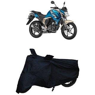 De-Autocare Premium Quality Black Matty Two Wheeler Dustproof Body Cover With Mirror Pockets FOR YAMAHA FZ-S