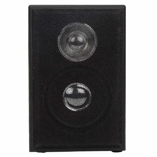 Classic Gold Wooden Mini Aux Mobile Speakers (Black)