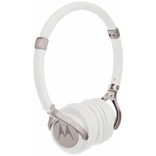 Motorola Pulse 2 On Ear Wired Headphone  White