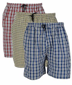 Pack of 3 Multicolor Shorts For Men by Fashlook