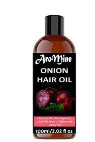 AroMine Pure and Organic Onion Hair Oil For Hair Growth Anti Dandruff and Hair Fall Control 100ml