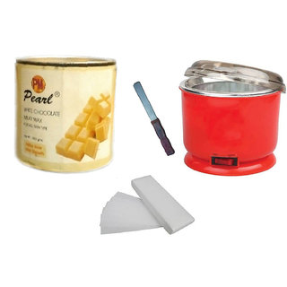 DDH WhiteChoclate Wax + 90 Wax Strips Pack + Wax Auto Cut Heater and Free Knife