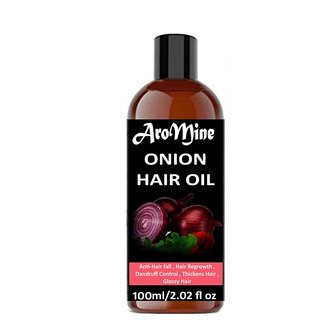 AroMine Pure and Organic Onion Hair Oil For Hair Growth Anti Dandruff and Hair Fall Control 100ml