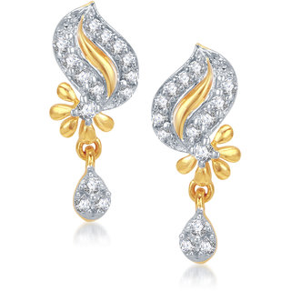 Vk Jewels Glamoures Gold And Rhodium Plated Earrings - Er1039g Vker1039g by Vkjewelsonline