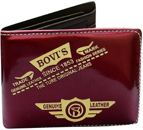 BOVIS purple PU Stylish Wallet For Mens (BOV-A3)