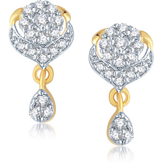 Vk Jewels Magnificiant Design Gold And Rhodium Plated Earrings-er1069g Vke by Vkjewelsonline