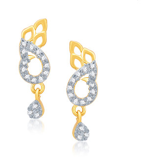 VK Jewels Pretty Gold And Rhodium Plated  Earrings-ER1099G [VKER1099G]