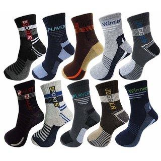 Sparkle  Men's Cotton Ankle Socks (Pack of 5)