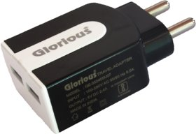 Glorious Fast Charging wall charger 2.4A-Black/White - Dual Port