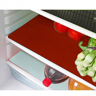 Kuber Industries Refrigerator Drawer Mat / Fridge Mat/ Multipurpose Mat Set of 6 Pcs (1319 inches) (Multi)