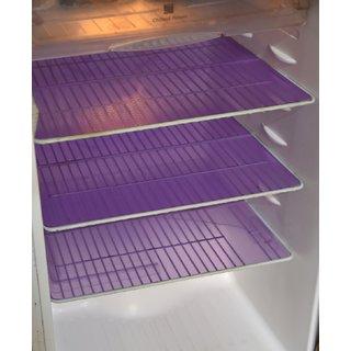 Kuber Industries Refrigerator Drawer Mat / Fridge Mat/ Multipurpose Mat Set of 6 Pcs (1319 inches) (Blue)