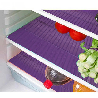 Kuber Industries Refrigerator Drawer Mat / Fridge Mat/ Multipurpose Mat Set of 6 Pcs (1319 inches) (Blue)
