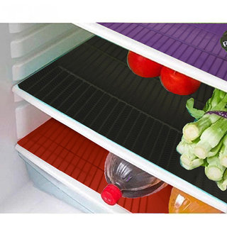 Kuber Industries Refrigerator Drawer Mat / Fridge Mat/ Multipurpose Mat Set of 6 Pcs (1319 inches) (Multi)