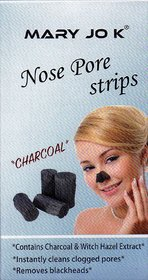 Mary Jo k Deep Cleansing (Charcoal) Nose Pore Strips (10 Strips)
