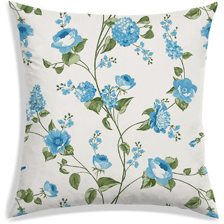 RADANYA Floral Cushion Cover,Blue,30X30 cm (12X12)