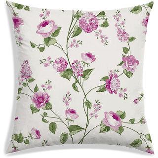 RADANYA Floral Cushion Cover,Pink,45X45 cm (18X18)