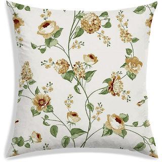 RADANYA Floral Cushion Cover,Yellow,30X30 cm (12X12)