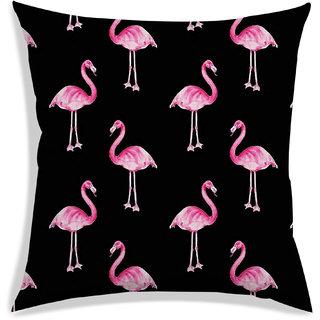 RADANYA Floral Cushion Cover,Black,30X30 cm (12X12)