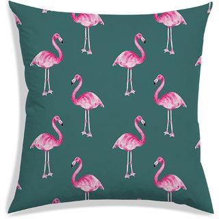 RADANYA Floral Cushion Cover,Green,30X30 cm (12X12)