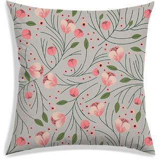 RADANYA Floral Cushion Cover,Beige,40X40 cm (16X16)