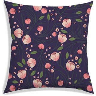 RADANYA Floral Cushion Cover,Purple,30X30 cm (12X12)