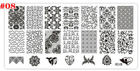 Nail Art Printed lace Stamping Plates Image Stamp Template Rectangle Stencil