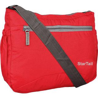 Startail Men  Women Casual Red Polyester Sling Bag