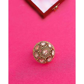 Voylla Faux Kundan Gems Embellished Ring