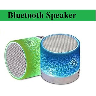 Mini Wireless Bluetooth Speaker 2.1 Channels With Memory Card Slot By Divyamet  set of 1 Multicolor