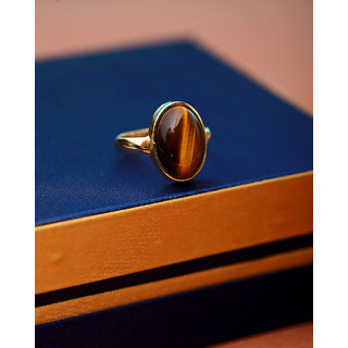 Dare by Voylla Tiger's Eye Men's Classic Ring