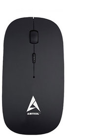 Artek Classic Wireless USB Mouse - Black with Auto Power off Function