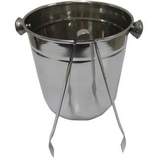 Single wall Ice Bucket with Tong
