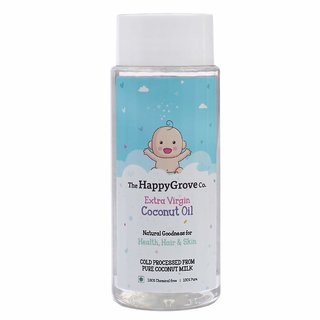 The HappyGrove Co. Extra Virgin Coconut Oil Baby Oil (No Preservatives No Chemicals No Mineral Oils)