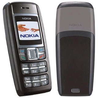 Refurbished Nokia 1600 Black 1.4 Inches(3.56 Cm) Display 1 Year Warranty Bazaar Warranty