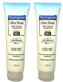 neutrogena ultra sheer sunscreen 118ml pack of 2
