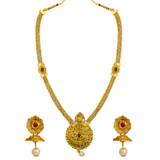 1c07d0e2d Om Jewells Antique Red Kundan Traditional Ethnic Wear Necklace Set NL1000530
