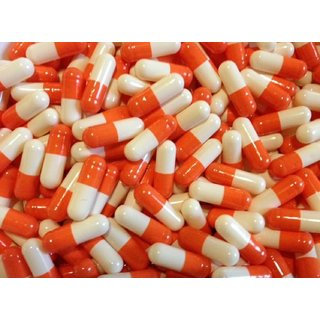 Empty Gelatin Capsules Orange/white Size 0 500 pieces