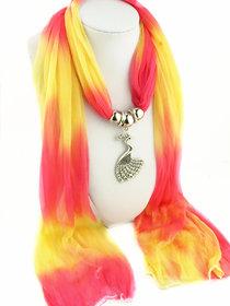 Chiffon Mullti coloured pendant scarf stoles dupatta for women