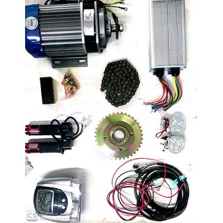 48v 1000w Bike Conversion kit with All Accessories (Indian Brand geekay)